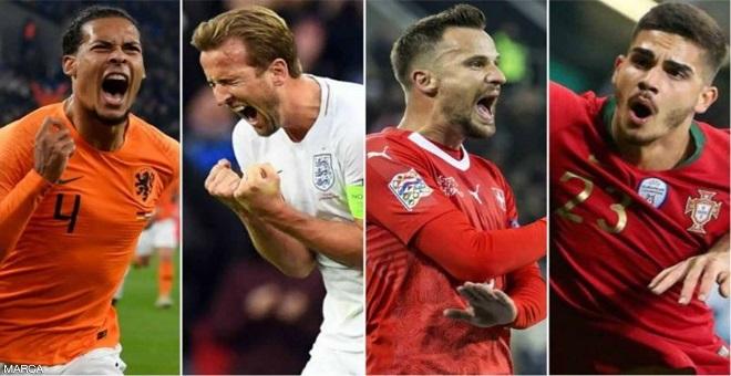 الأربعة الكبار تكمل المربع الذهبي لدوري الأمم الأوروبية