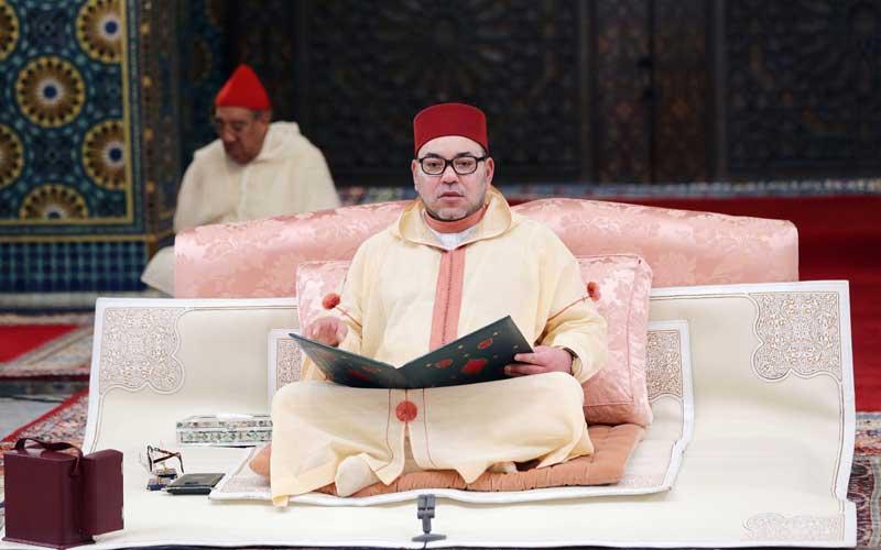 الملك يترأس بمسجد حسان بالرباط حفلا دينيا إحياء لليلة المولد النبوي
