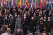 الملك وولي العهد يتوسطان قادة العالم في احتفالات مائوية هدنة الحرب العالمية الأولى