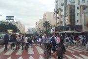 احتجاجات التلاميذ على ''الساعة'' متواصلة بالبيضاء بشعارات قوية
