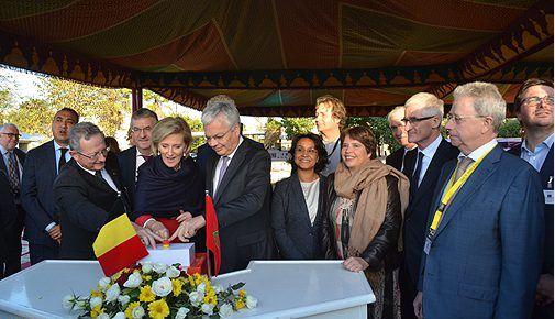 الأميرة أستريد تضع الحجر الأساس لبناء السفارة الجديدة لبلجيكا بالرباط