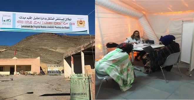 خلال فصل الشتاء..المستشفى الميداني يقدم خدماته لساكنة إملشيل