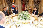 الملك يقيم مأدبة عشاء على شرف الوزير الأول بكوريا الجنوبية