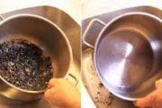 طريقة سحرية لتنظيف الأواني المحترقة دون مجهود