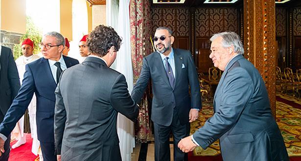 الملك محمد السادس يستقبل الأمين العام للأمم المتحدة أنطونيو غوتيريس