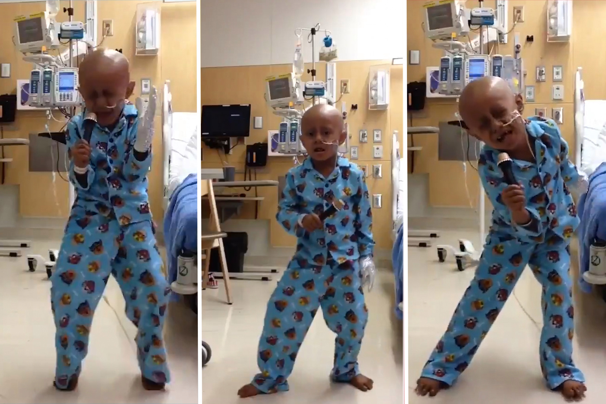 بالفيديو..طفل يحتفل بانتهاء مرحلة علاجه من السرطان