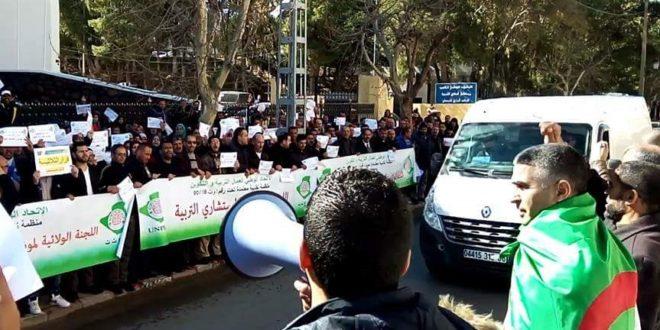 إضراب وطني عام يشل قطاع التعليم بالجزائر