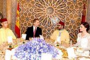 الملك يقيم مأدبة عشاء رسمية على شرف عاهلي إسبانيا