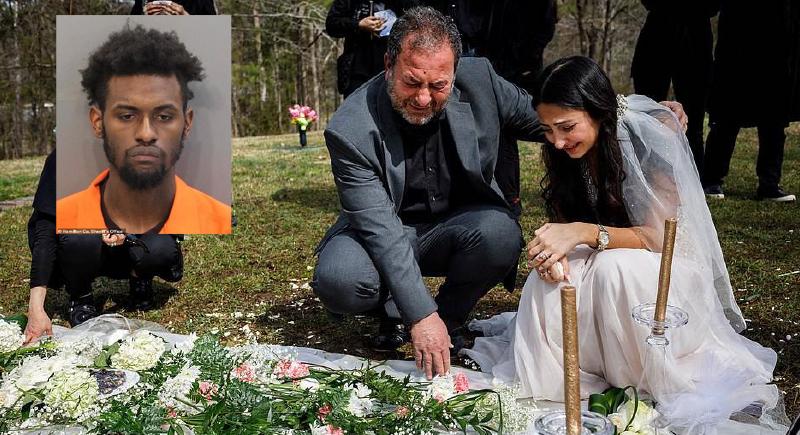 ارتدت فستان زفافها ووقفت على قبر خطيبها في يوم عرسها