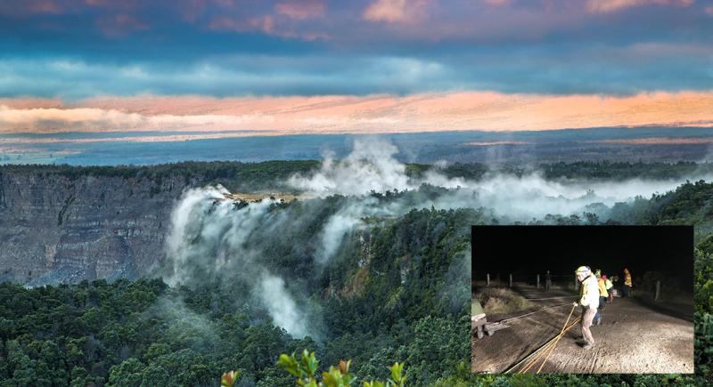 في حادثة غريبة.. سقط في بركان ولم يمت !