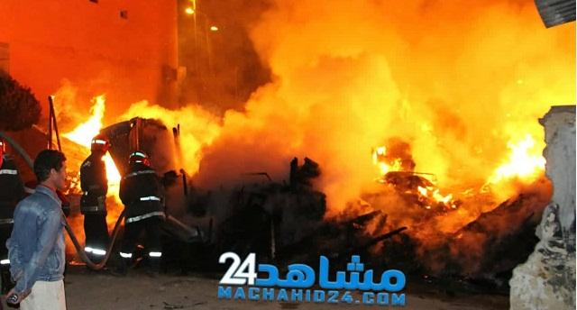 حريق بالمحمدية