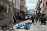 البيضاء.. إصابة 4 عمال في انهيار منزل بدرب السلطان (صور)