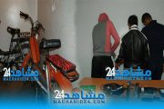 أمن البيضاء يوقف عصابة متخصصة في سرقة الدراجات النارية (+ صور)