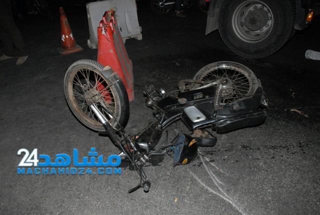 بالصور.. مصرع سائق دراجة نارية في حادثة سير بالبيضاء