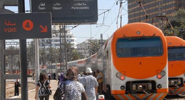 حركة القطارات تعود إلى مطار محمد الخامس