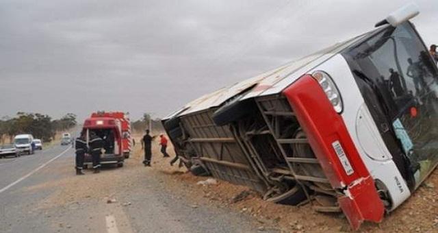 أكادير.. انقلاب حافلة للركاب والحصيلة 3 قتلى و44 جريحا