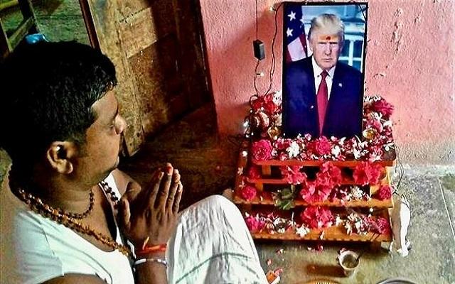 دونالد ترامب ينضم إلى الأبقار والفئران ليصبح مقدسا في الهند