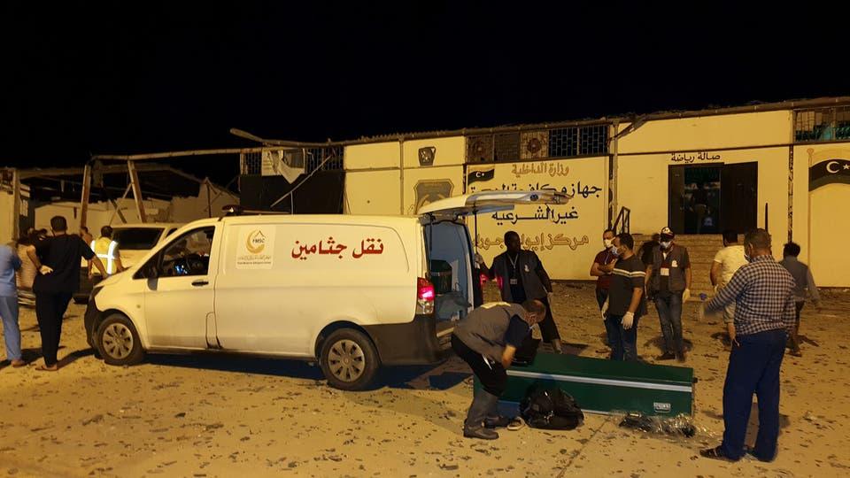 ترحيل جثامين المغاربة ضحايا القصف الذي طال مركز الهجرة غير النظامية بليبيا