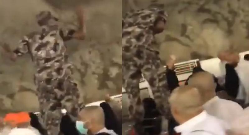 فيديو.. رجل أمن سعودي يرفض مبلغا ماليا من حاجة عربية: هذا واجبي