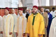 الملك يؤدي صلاة عيد الأضحى المبارك بمسجد الحسن الثاني بتطوان