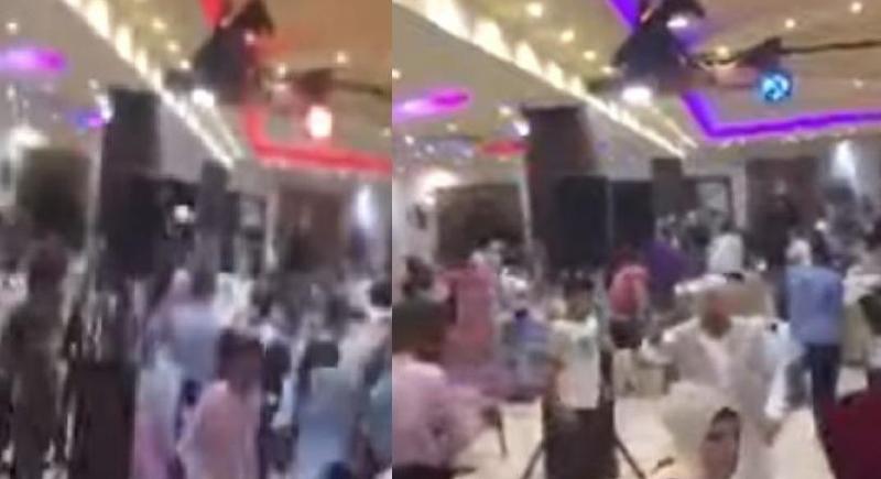 فيديو.. حفل زفاف لبناني يتحول إلى حلبة مصارعة بين أهل العروسين