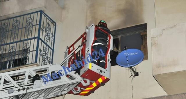 بالصور.. شاب يضرم النار في بيت العائلة ويتسبب في وفاة والده