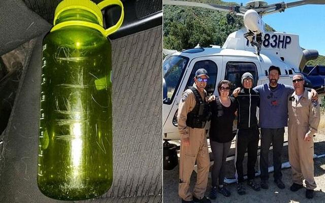 فكرة رسالة داخل زجاجة تنقذ حياة عائلة  بعدما تقطعت بها السُبل فوق الجبل