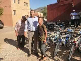 مع بداية الموسم الدراسي.. تلاميذ دواوير بإقليم أزيلال يستفيدون من دراجات هوائية