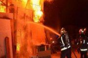 حريق يأتي على محلات بسوق بن دباب بمدينة فاس