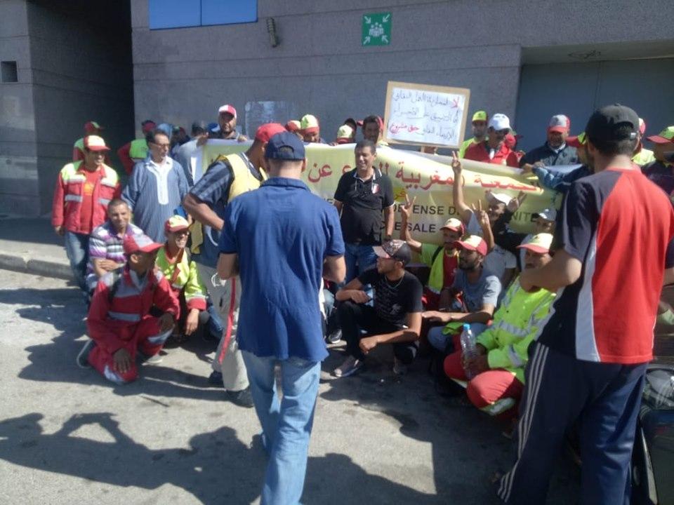عمال نظافة سلا يطالبون المجلس الجماعي للمدينة بالتدخل لحل مشاكلهم