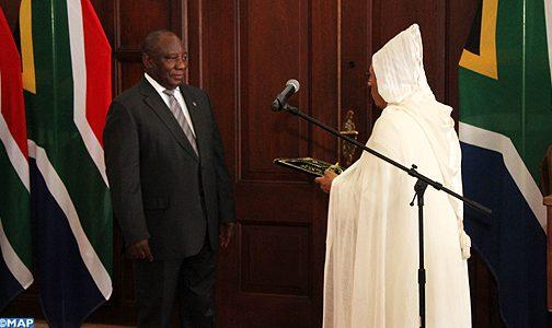 سفير المغرب يقدم أوراق اعتماده لرئيس جنوب إفريقيا