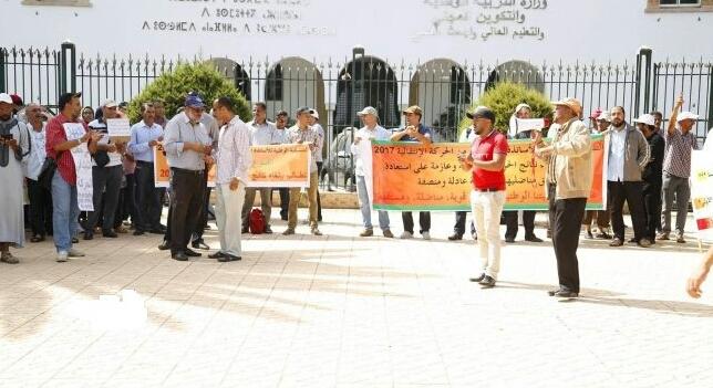 متضررو الحركة الإنتقالية يخوضون إضرابا عن الطعام احتجاجا على أمزازي