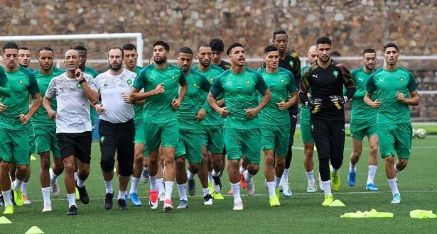 المنتخب المغربي يخوض آخر حصة تدريبية قبل مواجهة بورندي