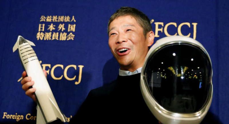 الملياردير الياباني يخلف وعده ويلغي رحلة القمر