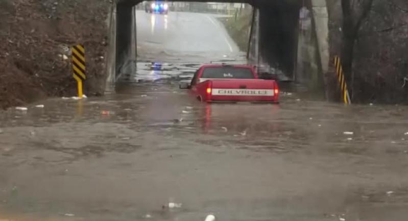 بعد قرار غبي.. سائق يغرق سيارته في بركة من الماء (فيديو)