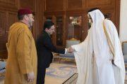 أمير دولة قطر يستقبل مستشار الملك فؤاد عالي الهمة