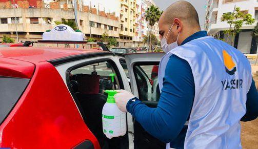 كورونا.. تعقيم حوالي 250 سيارة أجرة في الدار البيضاء