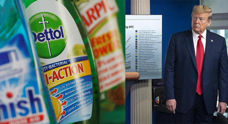 ترامب يقترح حقن مرضى كورونا بالمطهرات والمنظفات المنزلية