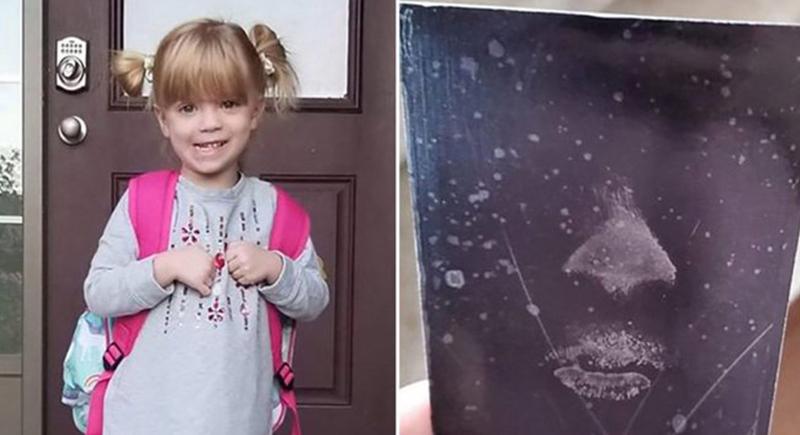 وجه طفلة متوفية يظهر على زجاج نافذة والديها !