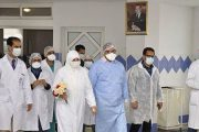 مغادرة أول حالة تتماثل للشفاء من كورونا المركز الاستشفائي لبني ملال
