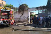 النيران تلتهم السيارات بالمحجز البلدي بن امسيك بالبيضاء