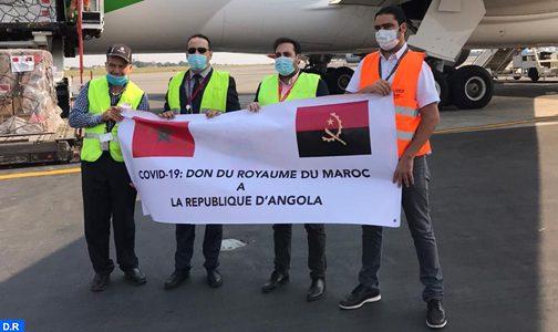وصول المساعدات الطبية المغربية إلى أنغولا