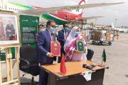 وصول المساعدات الطبية المغربية إلى مفوضية الاتحاد الإفريقي بأديس أبابا