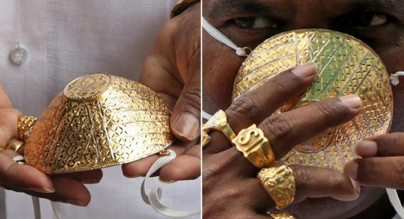 كمامة ذهبية بـ4 آلاف دولار في الهند!