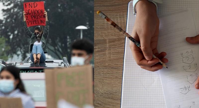 الحكم بالسجن على طالبة لم تؤدي واجباتها المدرسية !