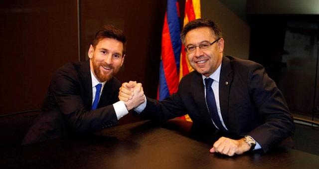 رئيس برشلونة يكشف حقيقة رحيل ميسي عن النادي الكاتالوني