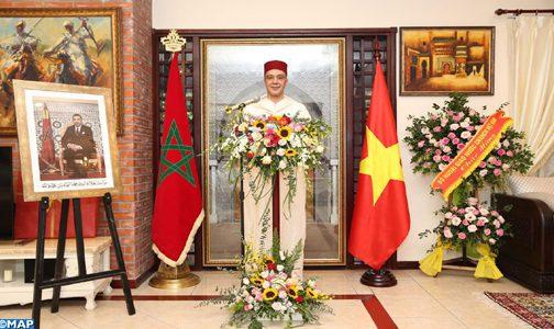 سفارة المغرب في فيتنام تحتفل بعيد العرش بحضور مسؤولين كبار