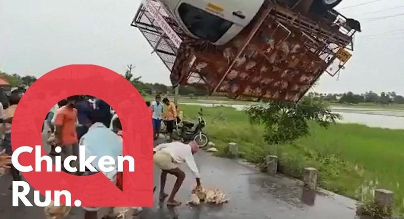 قرويون ينقذون سائق حافلة ثم يسرقونه (فيديو)