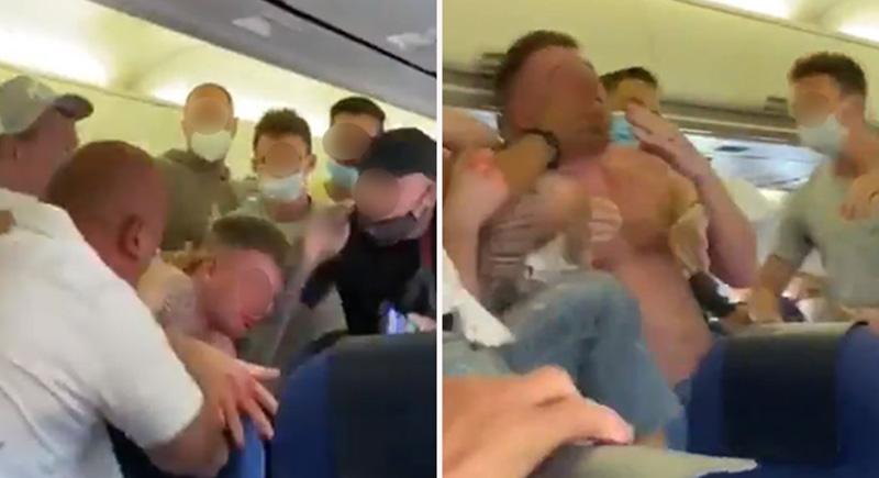شجار عنيف على متن طائرة هولندية بسبب 'الكمامة' (فيديو)
