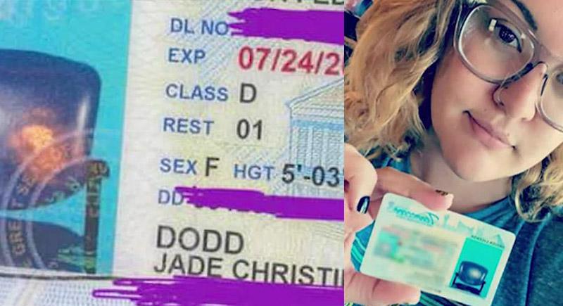 سيدة أمريكية تتعرض لموقف غريب بسبب صورة مقعد فارغ في رخصتها